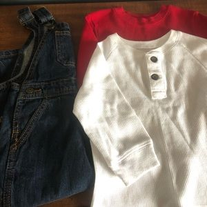 Excel cond. Wrangler bibs and (2) thermals size 2T